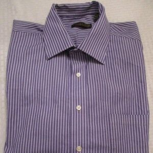 DONALD TRUMP Signature Dress Shirt Purple Stripes